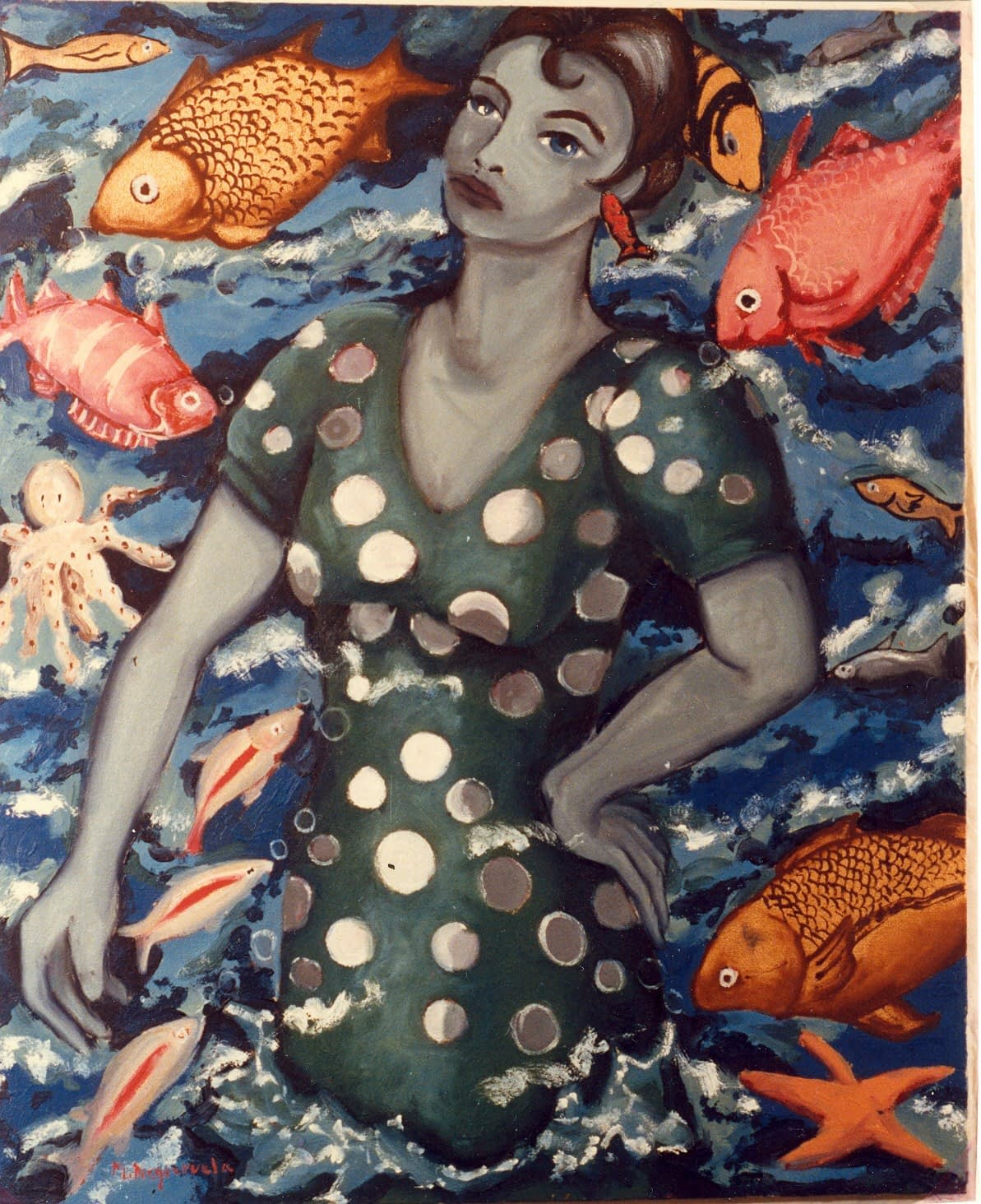 Flamenca debajo del agua